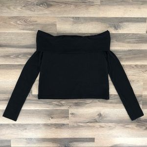 Zara Off The Shoulder Long Sleeve Shirt